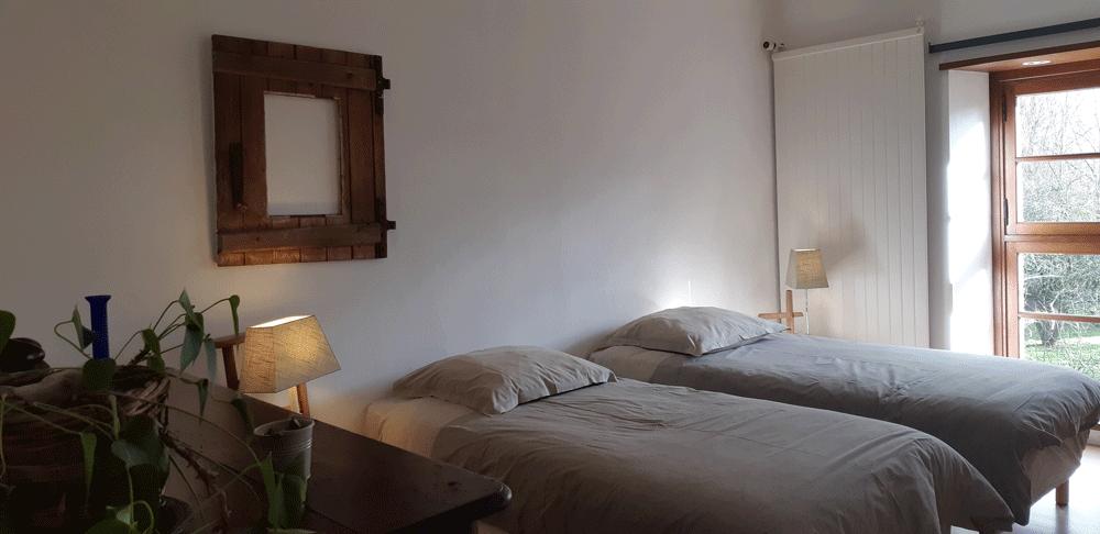 Chambre 2 lits la Pépinière