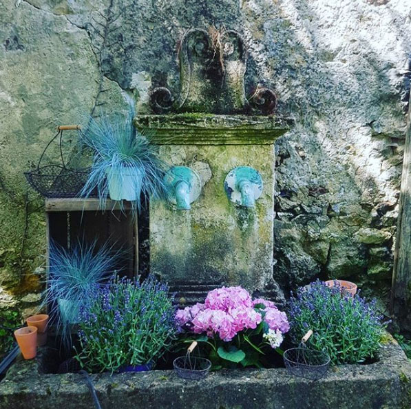 Fontaine Jardin La pépinière 77